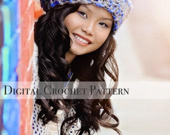 Crochet Pattern / Slouchy Hat Crochet Pattern / Crochet Hat Pattern for Super Chunky Slouchy Hat Pattern 007 / Women's Accessories