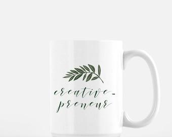 Creative-preneur Floral Mug - 15 oz.