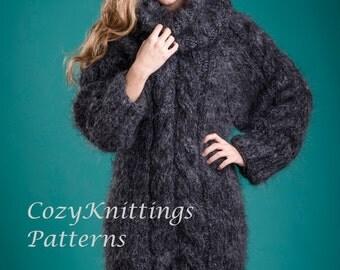 sweater knitting pattern sweater PDF pattern dress tunic instructions