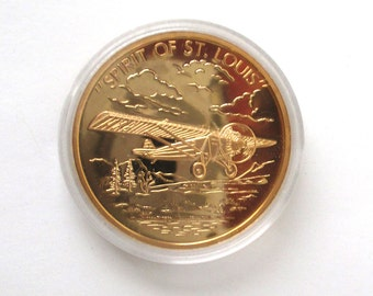 Spirit of St Louis Coin, History of Aviation, Milestones in Flight, Mint Coin