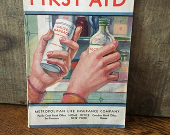 Vintage First Aid Pamphlet