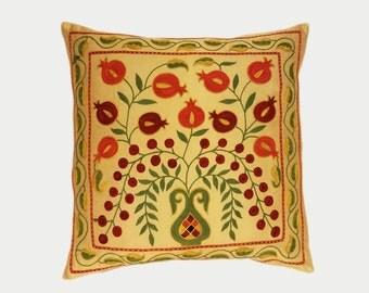 Handmade Suzani Pillow Cover msp786, Suzani Pillow, Uzbek Suzani, Suzani Throw, Boho Pillow, Suzani, Decorative pillows, Accent pillows