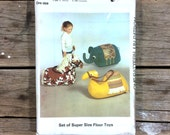 Ride on Toy Pattern, Style 4351, elephant, horse, camel,  Uncut, kids toys sewing pattern