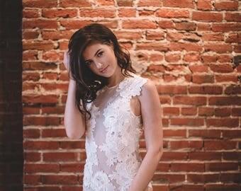Wedding Separates - Gwendolyn Bodysuit - Wedding Bodysuit - Wedding Top - Lace Wedding Dress - Tattoo Lace Wedding Dress