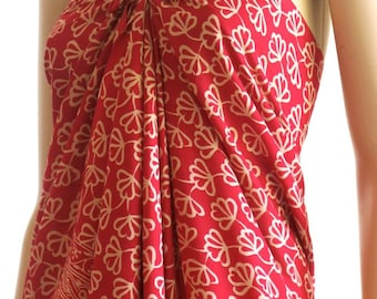 Red Flower Sarong, Pareo