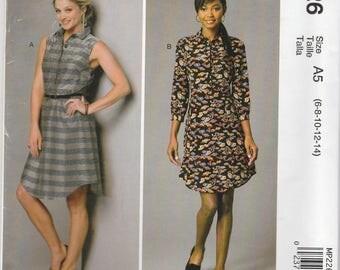 Button Front Dress Pattern McCalls 7380 MP226 Sizes 6-14 Uncut