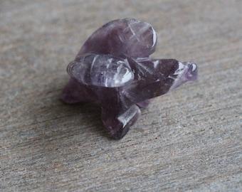 Amethyst Eagle Stone Animal Figurine F209