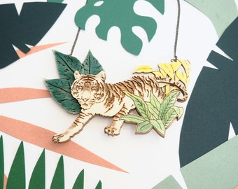 Jungle Tiger Necklace / Jacqueline Colley x Kate Rowland