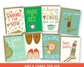 Illustrated Card Set of 8 - Pick Your Set