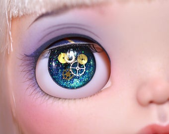 Midnight Steampunk Blythe Eyechips