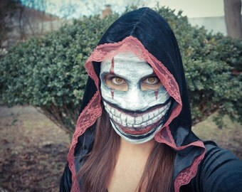 Twisty The Clown Mask, Creepy Clown,Purge Mask,Vintage Clown,Scary Mask,Creepy Mask,Mardi Gras Mask,Halloween Mask,Men's Mask,Dark Mask