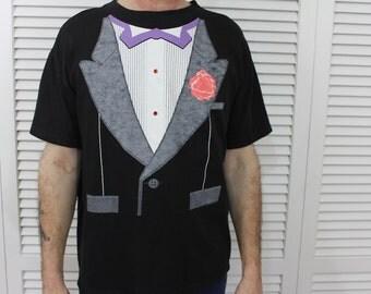 Vintage Tuxedo T Shirt Mens Size Large