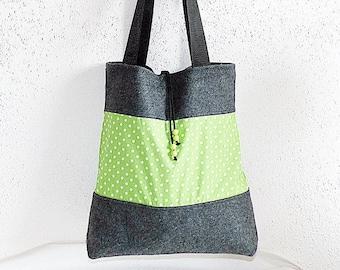 Spacious shopper for university, office etc., bag, shoulder bag