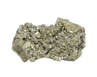 Pyrite Golden Pyritohedron Fools Gold Crystal Cluster from the Eagle Mine, Colorado Mineral Specimen Earth Gem from an estate geo collection