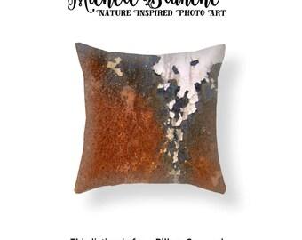 Rust Photo Pillow Cover,  Peeling Paint Photo Toss Pillow, Industrial Vibe Throw Pillow, Urban Art Decor, Edgy Decor Throw Pillow Cover