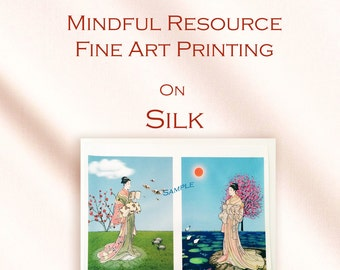 Silk Art Picture Fabric - Fine Art Photography - Art Prints - Printing Services - Art Fabric Sewing for Projects