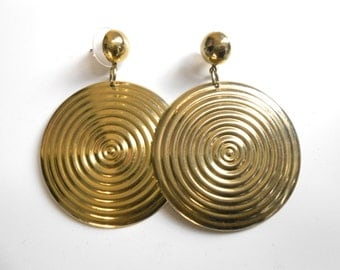 Versace Inspired/ Versace Earrings/ Big Gold Earrings/ Versace Jewelry/ 90s Earrings/ Hip Hop Earrings/ Cyber Ghetto/ Hip Hop Jewelry/ Black