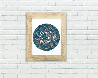 Custom typography PERSONALIZED ART, customizable print, type font word art print, GIFT for her, your words here, your favorite quote here