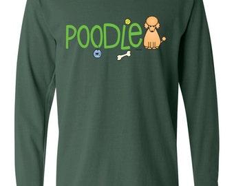 Poodle Doodle Garment Dyed Cotton Long Sleeve T-shirt