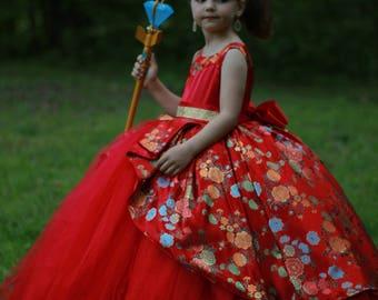 Disney Elena costume, Elena of Avalor dress, Disney Princess Dress, Princess costume, Flower girl dress
