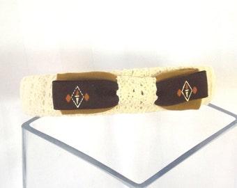 Bow Headband - Handmade Headband - Hair Accessory - Hair Bow - Vintage Hair Accent - Lace Headband - Lace Hair Accent - Gift for Her