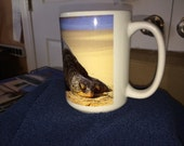 Turtle Mug Large Coffee Mug 15 Oz
