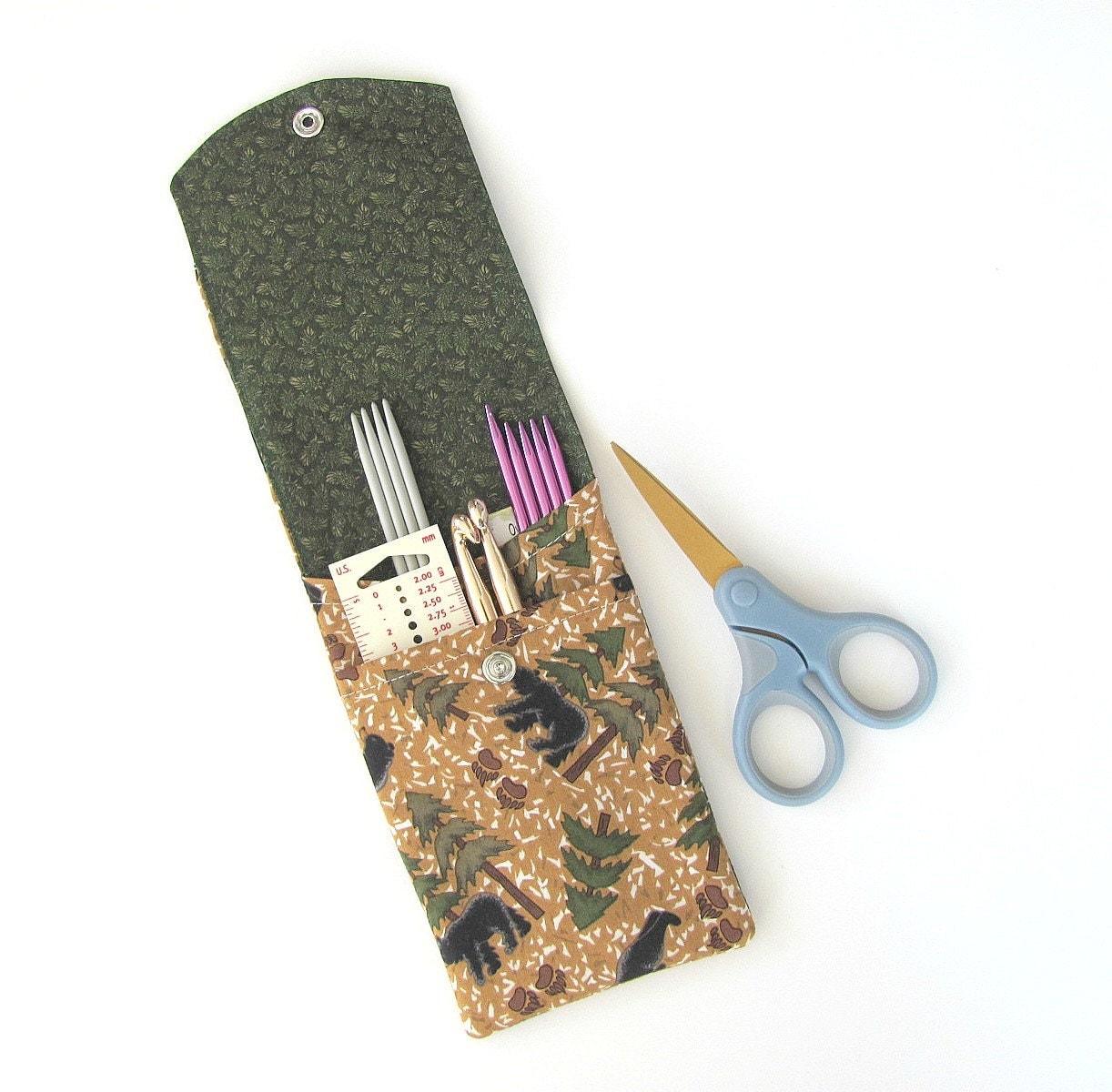 Knitting Needle Case Nz : Knitting needle case dpn or crochet hooks