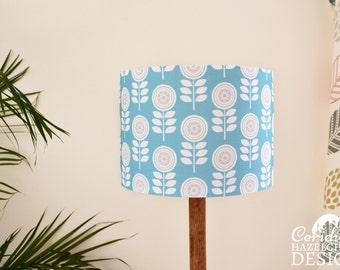 Scandi Flowers Lampshade, Illustrated Lamp Shade, Handmade Lighting