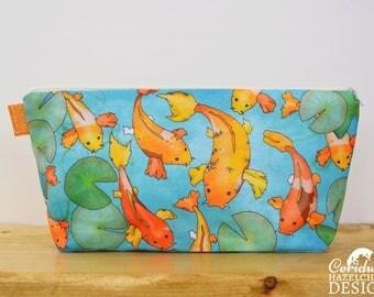 Koi Carp Toiletry Wash Bag / Makeup Bag / Pencil Case