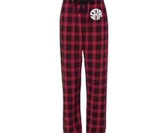 Monogrammed Pajama Pants, Christmas Pajamas, Family Pajamas for Christmas, Monogram Pajama Pants, Monogrammed Pajamas, Unisex