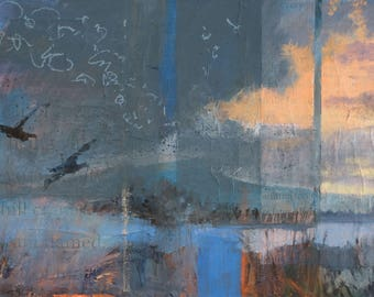 That Morning When We Discovered Flight ~ Original Contemporary Abstract Landscape Painting