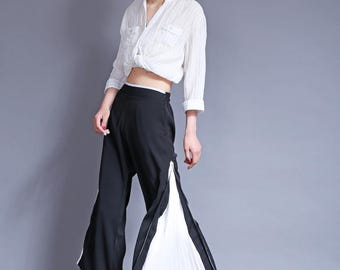 wide leg pants chiffon pants long pants A--wide leg pants pleated pants