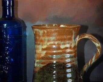 Large Handmade Stoneware Beer Stein