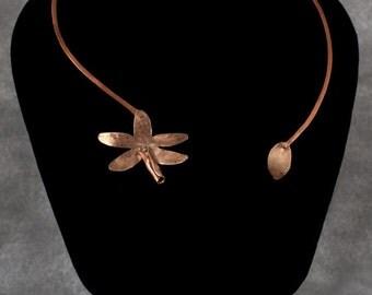 Orchid Necklace- Cinnabar