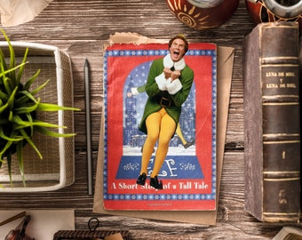 Buddy the Elf Bookmark / Elf Christmas Movie Bookmarks / Will Ferrell / Funny bookmark / Handmade / Christmas paper bookmark
