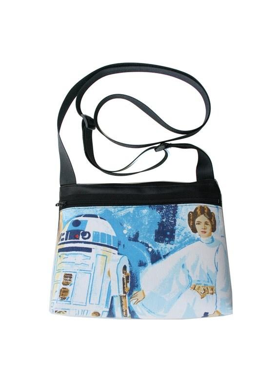 Princess Leia, Star Wars, boxy cross body, vegan leather, zipper top