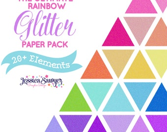 INSTANT DOWNLOAD - Glitter Digital Paper Pack for Personal and Commercial Use