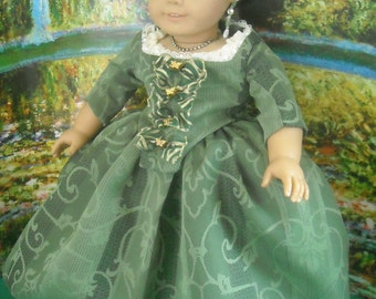 """American Girl 18"""" doll Outlander Claire Paris Gown and Accessories"""