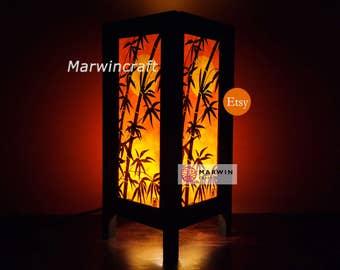 Asian Oriental Japanese Dawning Sunset Zen Art Bedside Floor Table Lamp Desk Paper Light Shades Gift Living Bedroom Furniture Home Decor