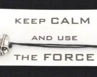 STAR WARS Darth Vader inspired friendship bracelet on waxed cotton cord