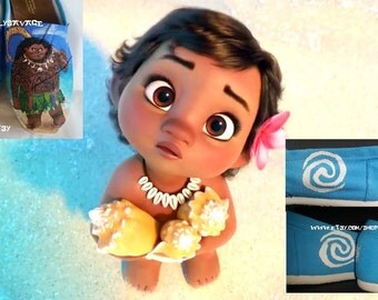 Disney Moana Maui Hei Hei Pua or baby Moana Custom Painted Shoes choose your characters and pose Converse Vans Toms