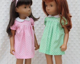 Short Sleeved Classic Polka Dots Dress or Romper Outfit for Sasha doll Girl, Toddler, Baby or Wichtel 30/32cm Doll.