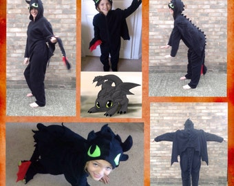 Toothless the Dragon onesie - adult Toothless onesie - how to train your dragon onesie - Toothless kigurumi - Toothless costume
