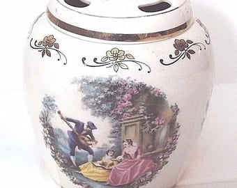 Vintage Lord Nelson Pottery Pomander or Toothbrush Holder