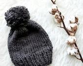 Knitting PATTERN-The Basic Knit Beanie Pattern-Knitting Beanie Pattern (Baby-Kid-Adult Sizes)