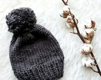 Knitting PATTERN-The Basic Knit Beanie Pattern-Knitting Beanie Pattern (Baby-Kid-Adult Sizes)