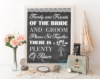 Wedding Seating Sign - Choose a Seat Sign - Wedding Chalkboard Seating Sign - Wedding Seat Chart - Wedding Seating Sign Print - Wedding Sign