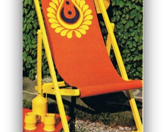 Beach Chairs Appliqué's Seats Instructions for Folding deck chair Digital Download Patterns