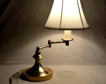 Brass Desk Lamp Office Light Desktop Tabletop Adjustable