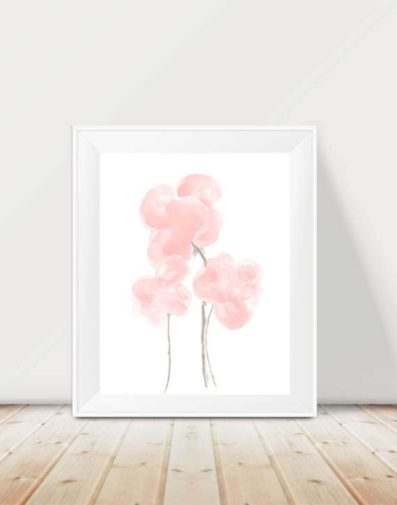 Blush Flower Print, 11x14 Blush Wall Decor